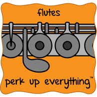 Flutes Perk Up Everything - Orange Background