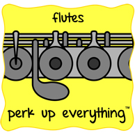 Flutes Perk Up Everything - Yellow Background