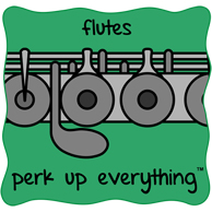 Flutes Perk Up Everything - Green Background