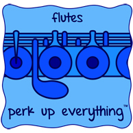 Flutes Perk Up Everything - All Blue on a Blue Background