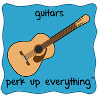 Guitars Perk Up Everything - Blue Background