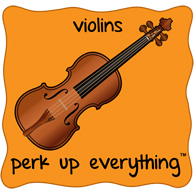 Violins Perk Up Everything - Orange Background