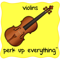 Violins Perk Up Everything - Yellow Background