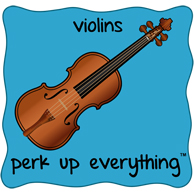 Violins Perk Up Everything - Blue Background