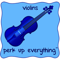 Violins Perk Up Everything - All Blue on a Blue Background